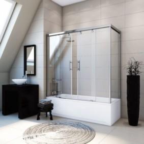 шторка для ванной комнаты из стекла