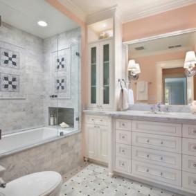 раздвижные шторки для ванной дизайн