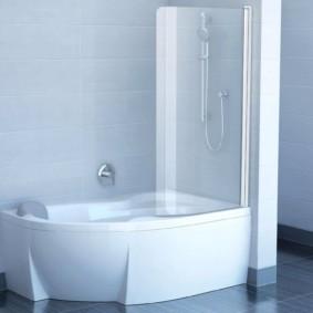 раздвижные шторки для ванной обзор фото