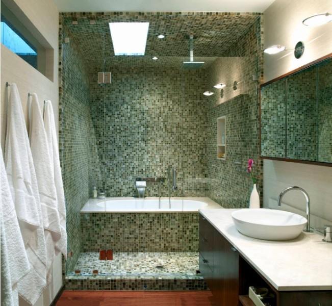 распахивающиеся шторки для ванной