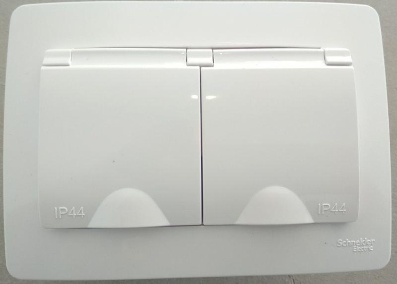 Двойная розетка IP44 для влажных помещений