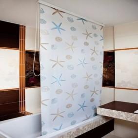 как выбрать шторы для ванной рулонные