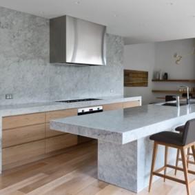 бюджетный интерьер кухни бетон