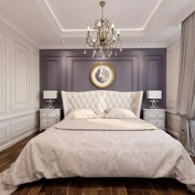 спальня в стиле неоклассика серый цвет