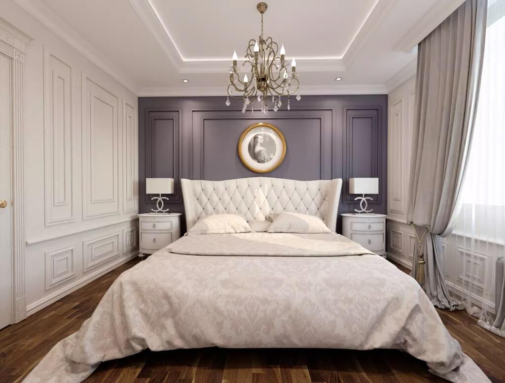 шибер спальня в стиле неоклассика фото интерьер фото