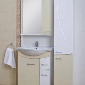 шкаф пенал с бельевой корзиной для ванной фото дизайна