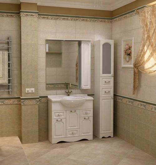 шкаф пенал с бельевой корзиной для ванной фото интерьер