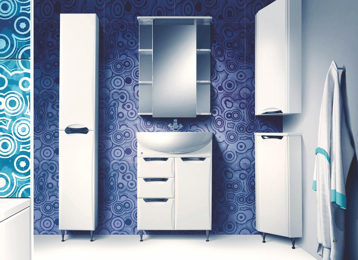 шкаф пенал с бельевой корзиной для ванной фото