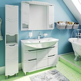 шкаф пенал с бельевой корзиной для ванной идеи вариантов