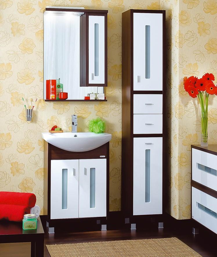 шкаф пенал с бельевой корзиной для ванной идеи