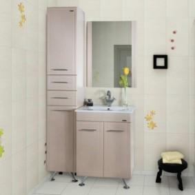 шкаф пенал с бельевой корзиной для ванной фото виды