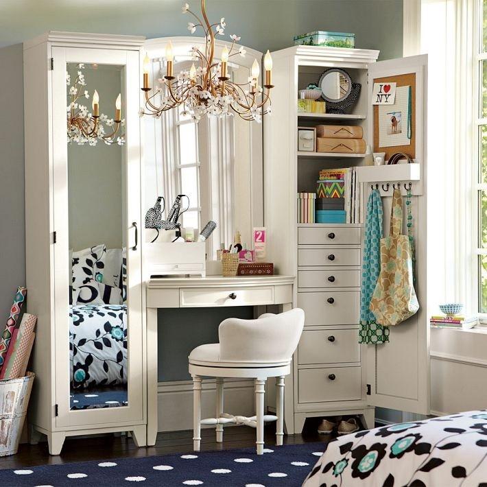 Набор мебели со шкафом и столиком для макияжа
