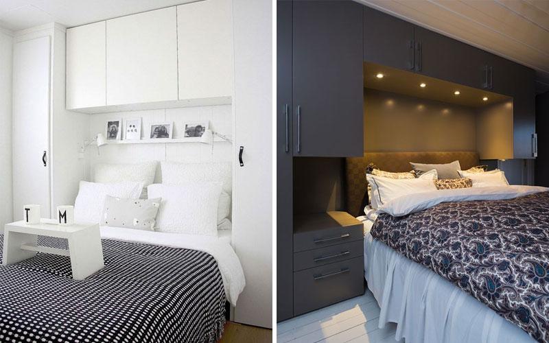 шкаф над кроватью в спальне дизайн идеи