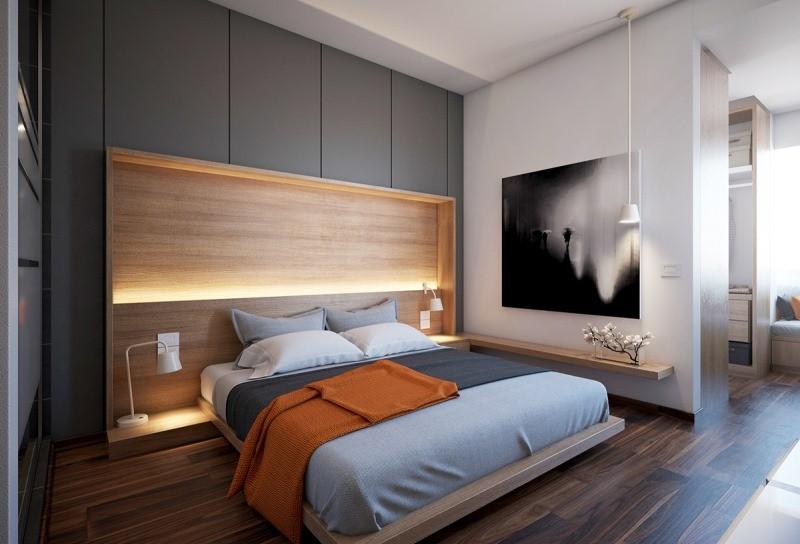 шкаф над кроватью в спальне дизайн
