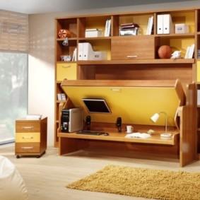 шкафы над кроватью в спальне фото идеи