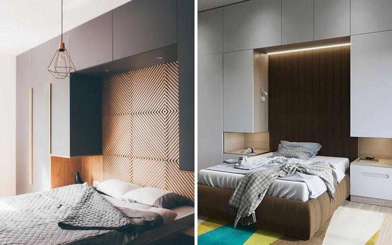 шкаф над кроватью в спальне фото виды