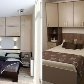 шкафы над кроватью в спальне идеи вариантов
