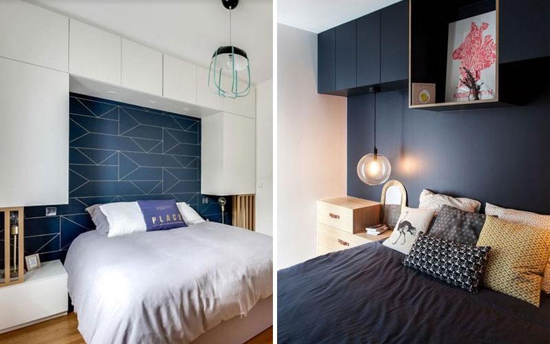 шкаф над кроватью в спальне варианты фото