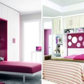 шкафы над кроватью в спальне виды фото