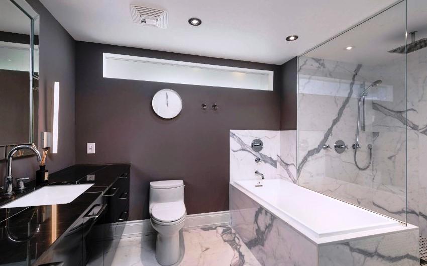 шторка для ванной комнаты из стекла декор фото