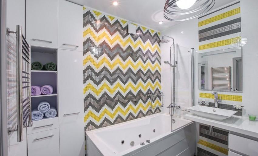 шторка для ванной комнаты из стекла дизайн фото