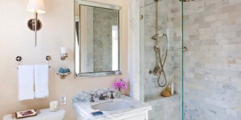 шторка для ванной комнаты из стекла дизайн идеи