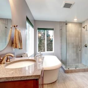шторка для ванной комнаты из стекла фото