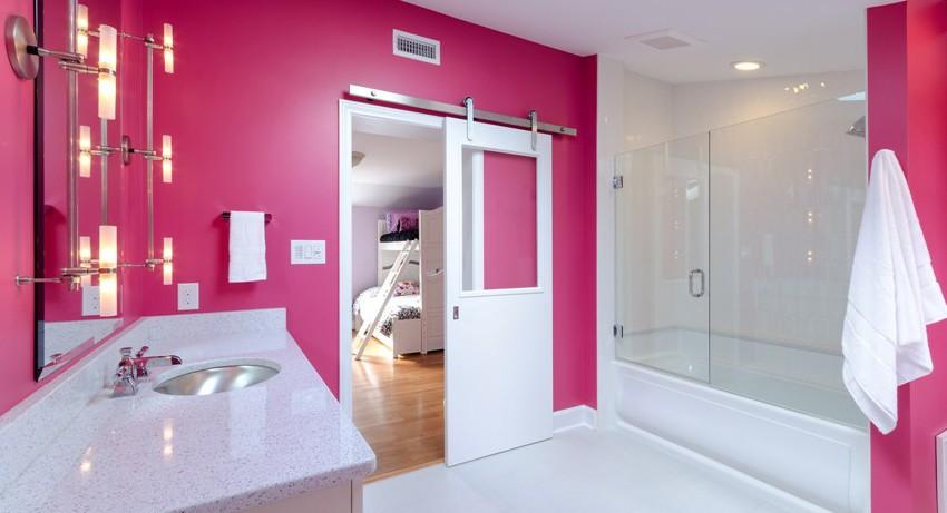 шторка для ванной комнаты из стекла фото декора