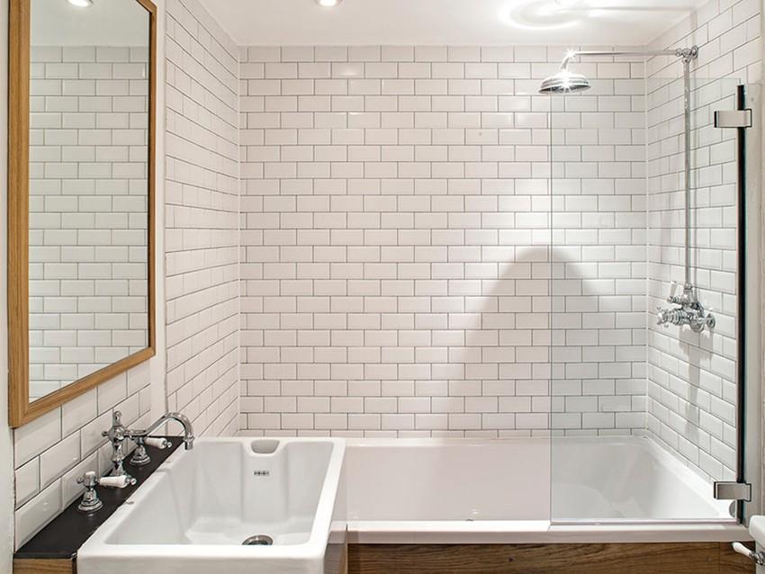 шторка для ванной комнаты из стекла фото идеи