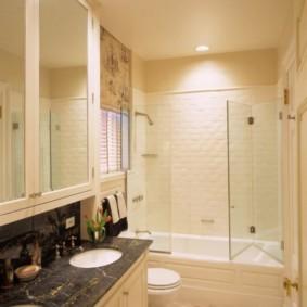 шторка для ванной комнаты из стекла фото видов