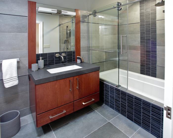 шторка для ванной комнаты из стекла фото виды