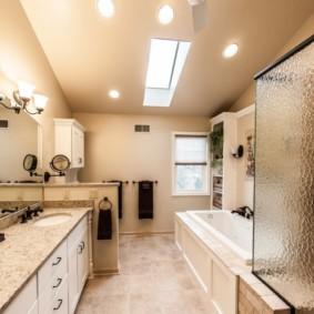 шторка для ванной комнаты из стекла идеи декор