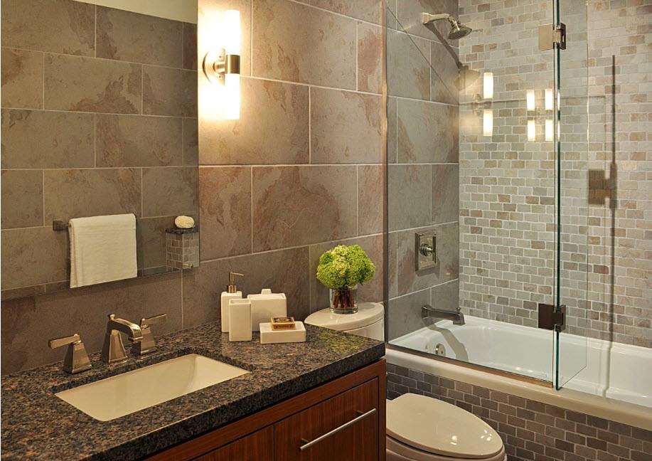шторка для ванной комнаты из стекла идеи декора