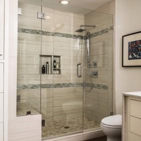 шторка для ванной комнаты из стекла идеи дизайн
