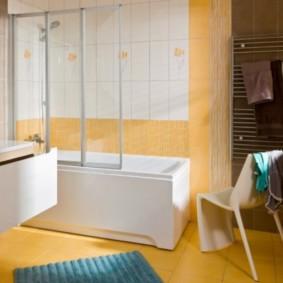 шторка для ванной комнаты из стекла идеи дизайна