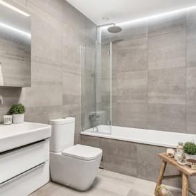 шторка для ванной комнаты из стекла идеи фото