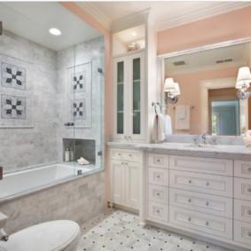 шторка для ванной комнаты из стекла идеи интерьер