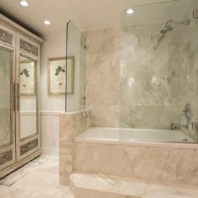 шторка для ванной комнаты из стекла идеи интерьера