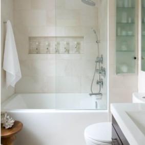 шторка для ванной комнаты из стекла идеи обзоры