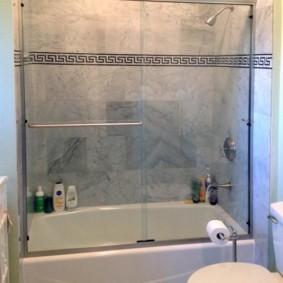 шторка для ванной комнаты из стекла идеи оформление
