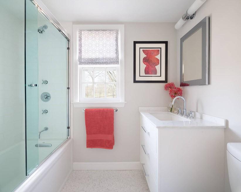 шторка для ванной комнаты из стекла идеи оформления