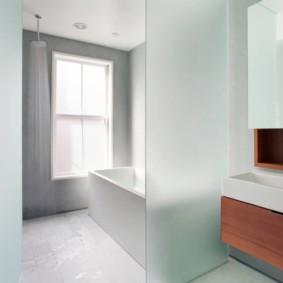 шторка для ванной комнаты из стекла идеи вариантов
