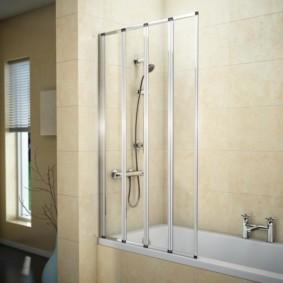 шторка для ванной комнаты из стекла идеи видов