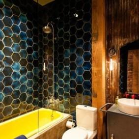 шторка для ванной комнаты из стекла идеи виды