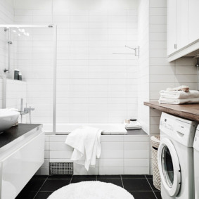 шторка для ванной комнаты из стекла интерьер фото