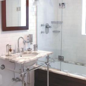 шторка для ванной комнаты из стекла варианты