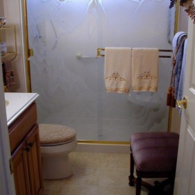 шторка для ванной комнаты из стекла варианты фото