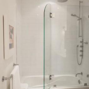 шторка для ванной комнаты из стекла виды дизайна
