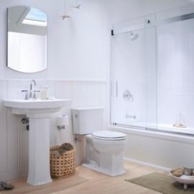 шторка для ванной комнаты из стекла виды интерьера