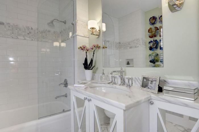 шторка для ванной комнаты из стекла виды оформления